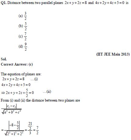 Three dimensional geometry practice question