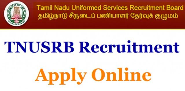 TNUSRB SI Recruitment 2019 for 969 Sub Inspector Posts