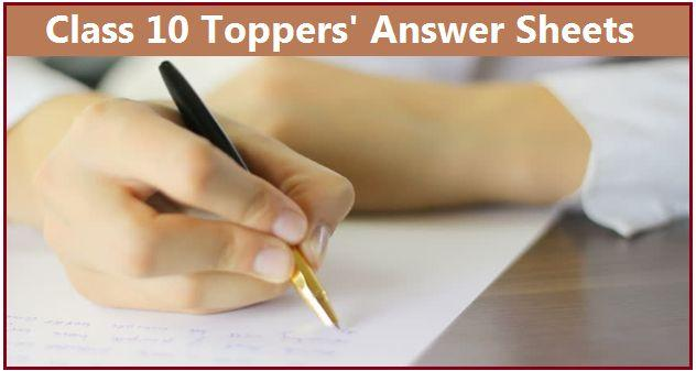 CBSE 10th Toppers' Answer Sheets 2017