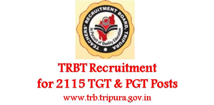 Teacher Recruitment by Tripura Govt, Apply for 2115 TGT