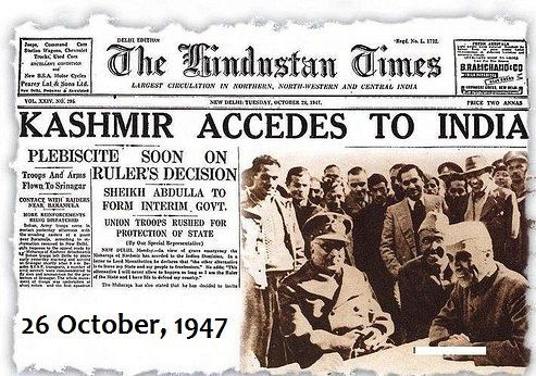 treaty of accession india kashmir