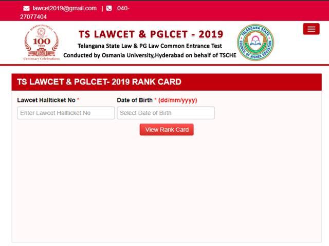 TS LAWCET and TS PGLCET Results 2019: Delhi boy got top rank