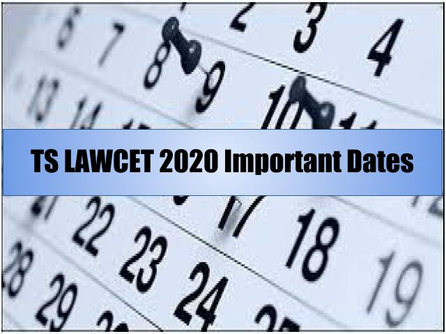 TS LAWCET 2020 Important Dates