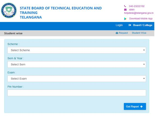 TS SBTET Diploma Result 2019 Declared for 1st, 2nd Year students