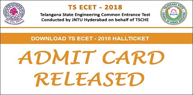TS ECET 2018 hall ticket