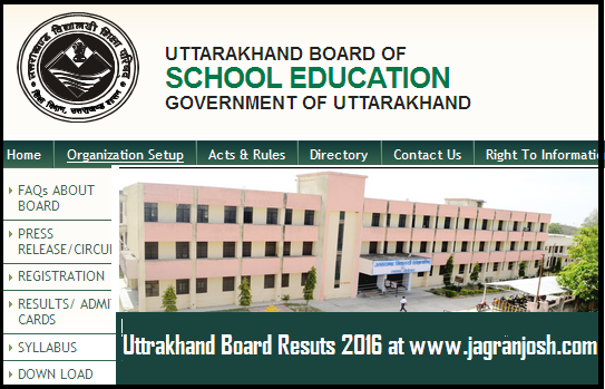 Uttarakhand Board Result 2016 Announced: Check UBSE Class