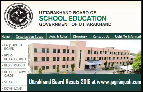 uttrakhand board result 2016