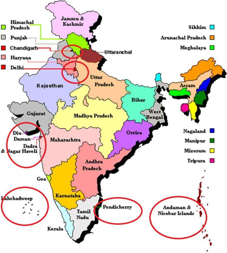 india  union territories