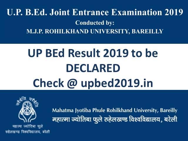 UP BEd Result 2019 Declared
