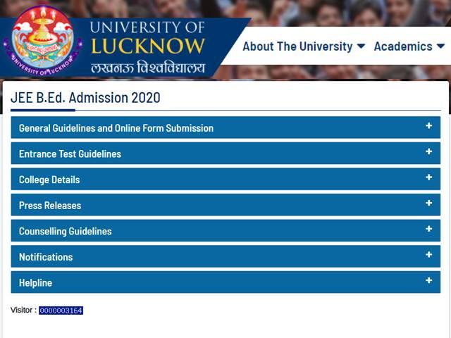 UP BEd JEE 2020 Application Begins