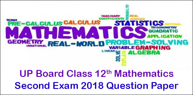 Mathematics second question paper 2018