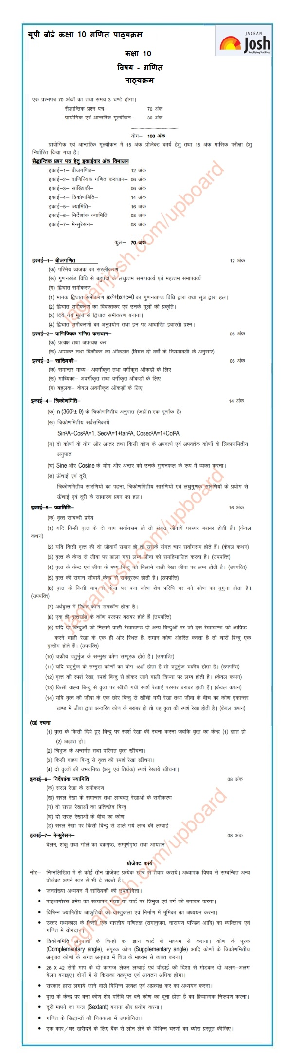 Blueprint of maths for class 12 mp board mp board 10th rbse books blueprint of question paper of class malvernweather Images