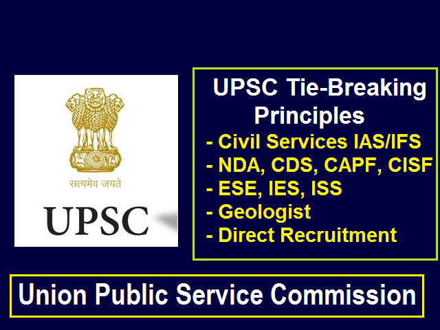 UPSC Tie-Breaking Formula