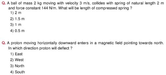 grade 8 physics questions and answers pdf
