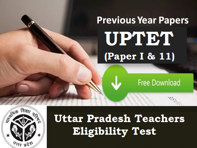 UPTET Previous Year Papers