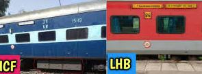 Various colour coaches indicates what in the train
