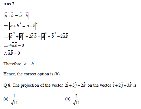Vectors practice question
