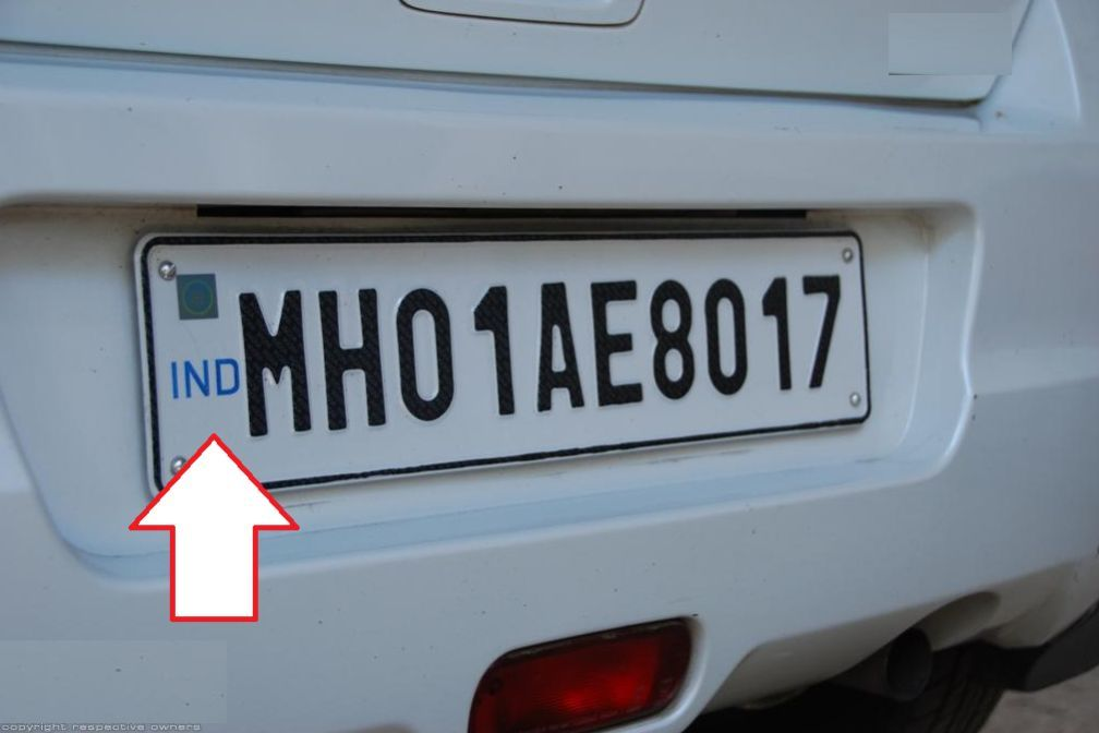 vehicle number plate
