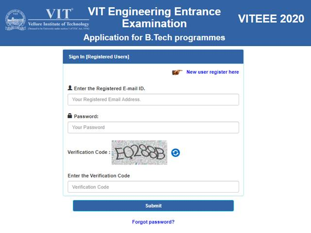 Viteee 2020 Application Process Has Started Today With