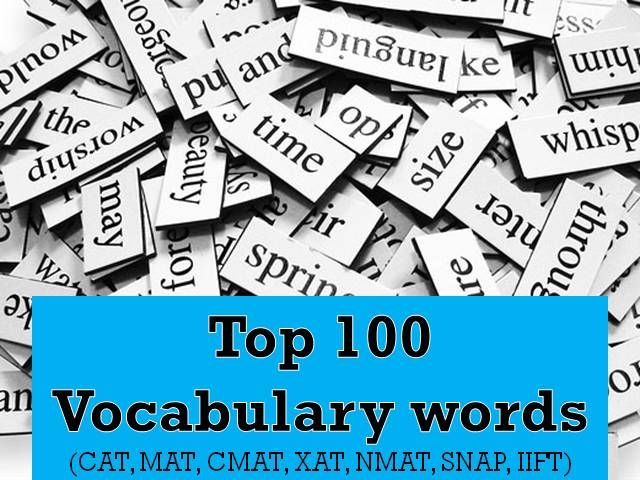 Top 100 words for MBA Vocabulary