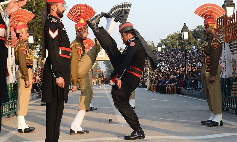 wagah ceremony goose marching
