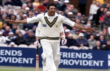 wasim akram in test match