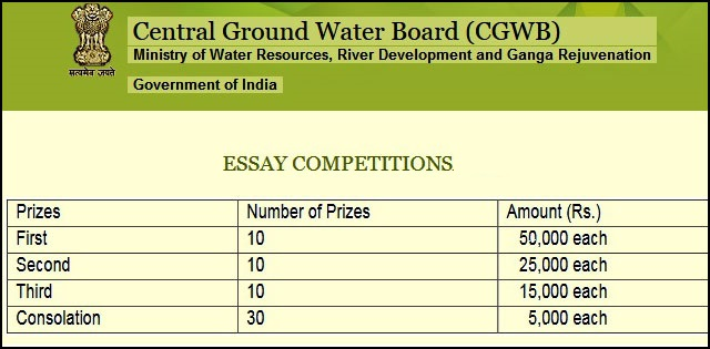 Water Conservation Essay Competition