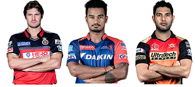 The three top most expensive player of IPL 2016
