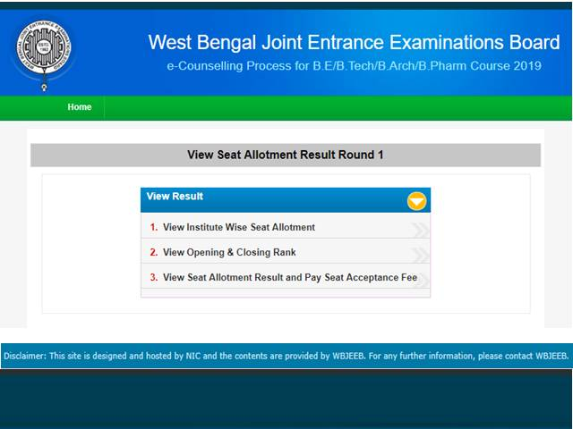 WBJEE Counselling Result 2019 Declared, Check First Round Seat
