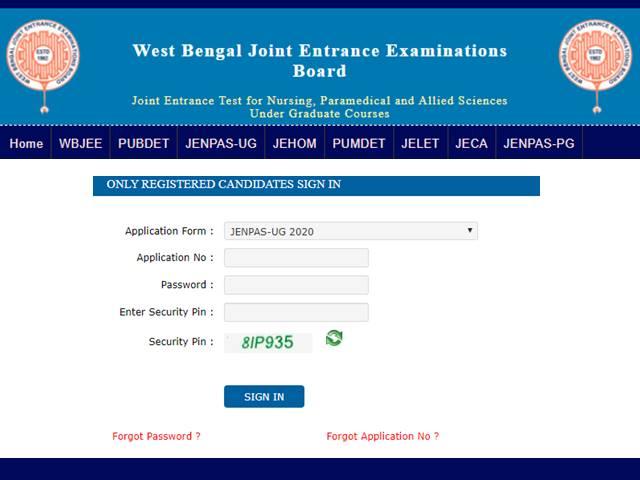 WBJEE JENPAS UG 2020 Application Process Ends