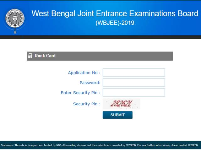 WBJEE Rank Cards 2019 Released online, Download at wbjeeb nic in