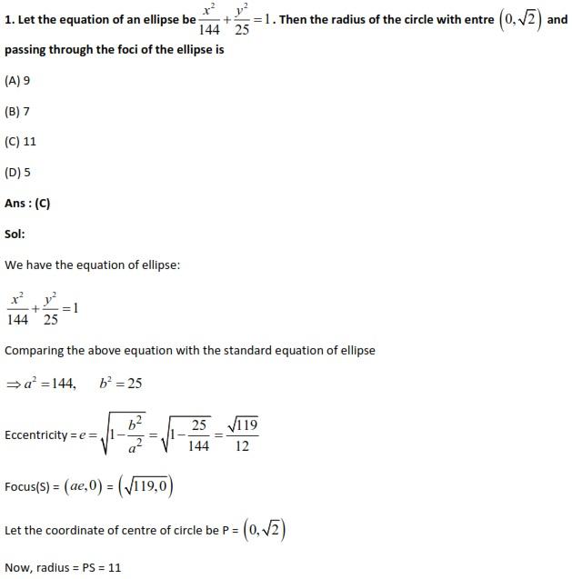 WBJEE 2014, Mathematics