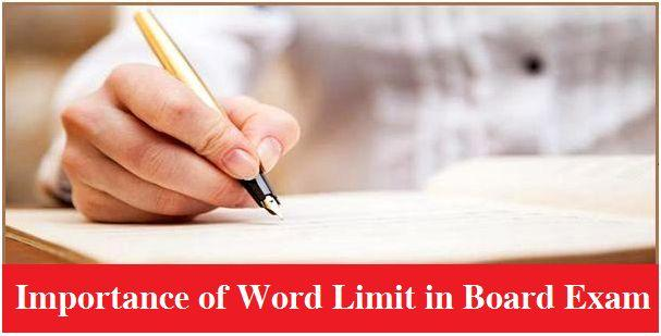 Importance of word limit in board exams
