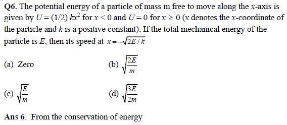 Work, Energy and Power - JEE Main Physics Practice Paper