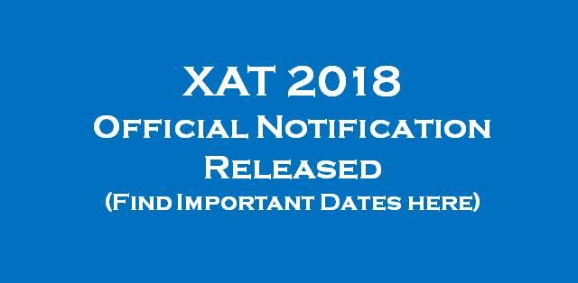 XAT 2018 Not... Xat
