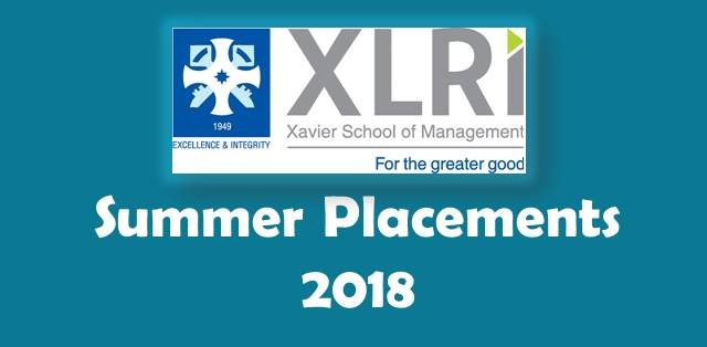 XLRI Summer Placement