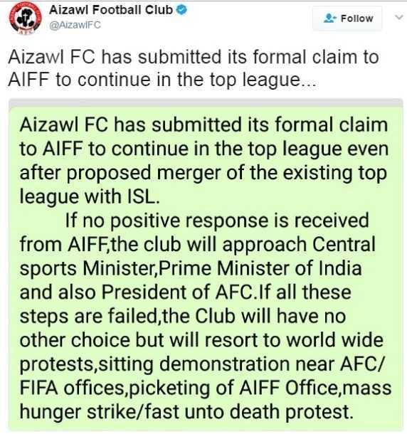 Aizawl FC threaten fast unto death