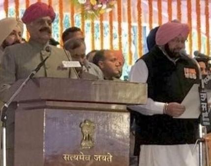 Amarinder Singh sworn-in as Punjab CM