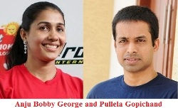 Anju Bobby George and Pullela Gopichand
