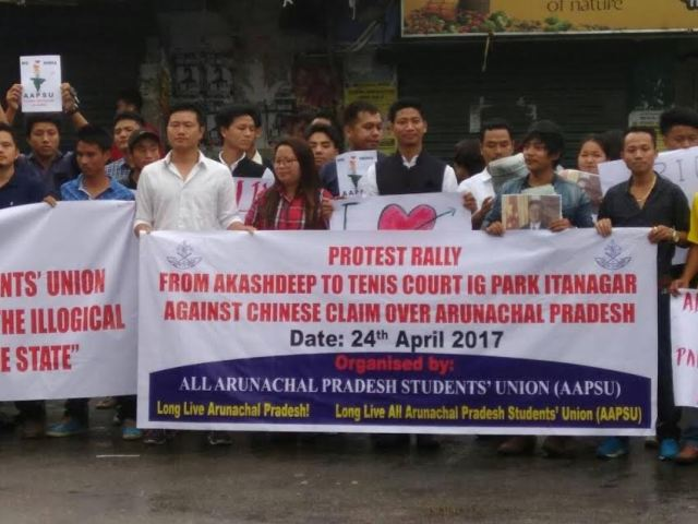 Arunachal Pradesh: Students Union protest against China's claim over renaming places in state