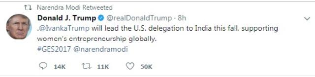 Donald Trump Tweet on GES=