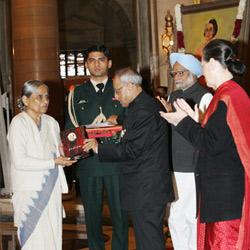 Ela Bhatt Conferred 2011 Indira Gandhi Prize for Peace, Disarmament and Development Award