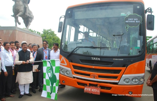 Tata Motors rolls out country's first Bio-Methane Bus=