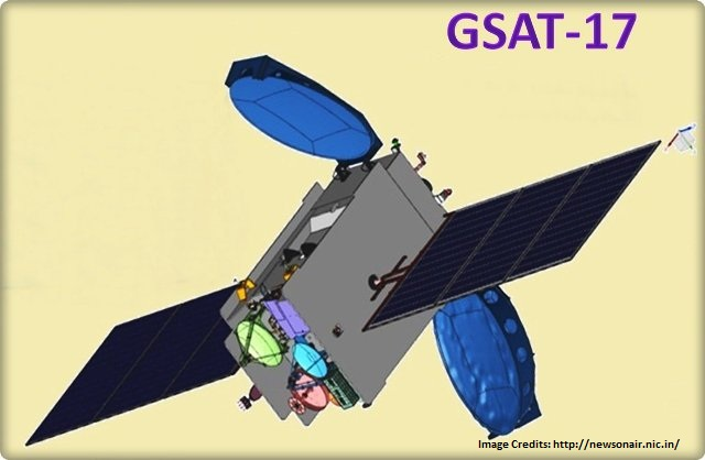 India's communication satellite GSAT-17 successfully launched=