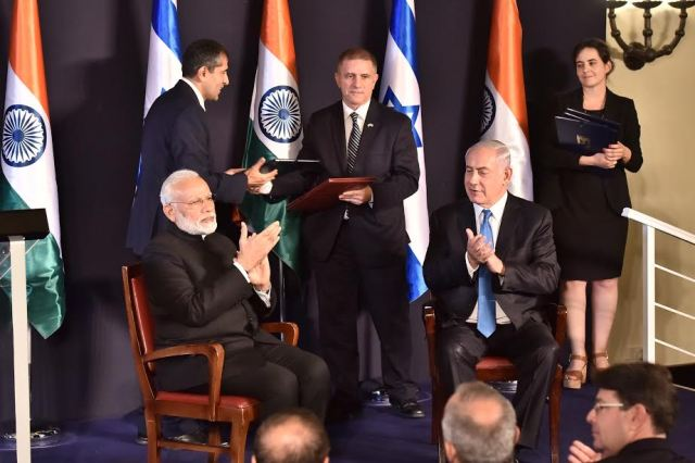 India, Israel signed seven Agreements=