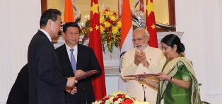 India and China signed sixteen agreements