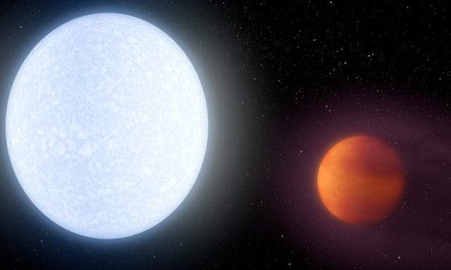 Astronomers discovered giant planet hotter than most stars
