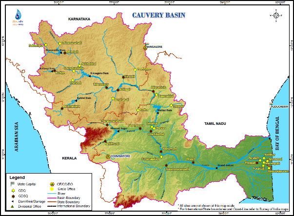 Map Cauvery River