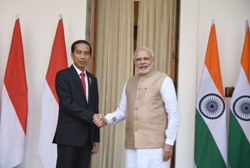 Modi with Indonesian President