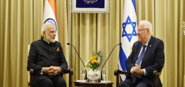 Modi meets with Reuven Rivlin, President of Israel =